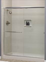 Shower doors and shower liners